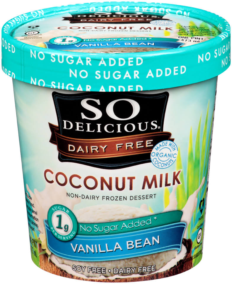 So Delicious Coconut Milk Frozen Dessert - Vanilla Bean, 473ml