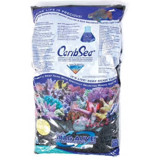 CaribSea Arag-Alive Hawaiian Aquarium Gravel - 20lbs, Black