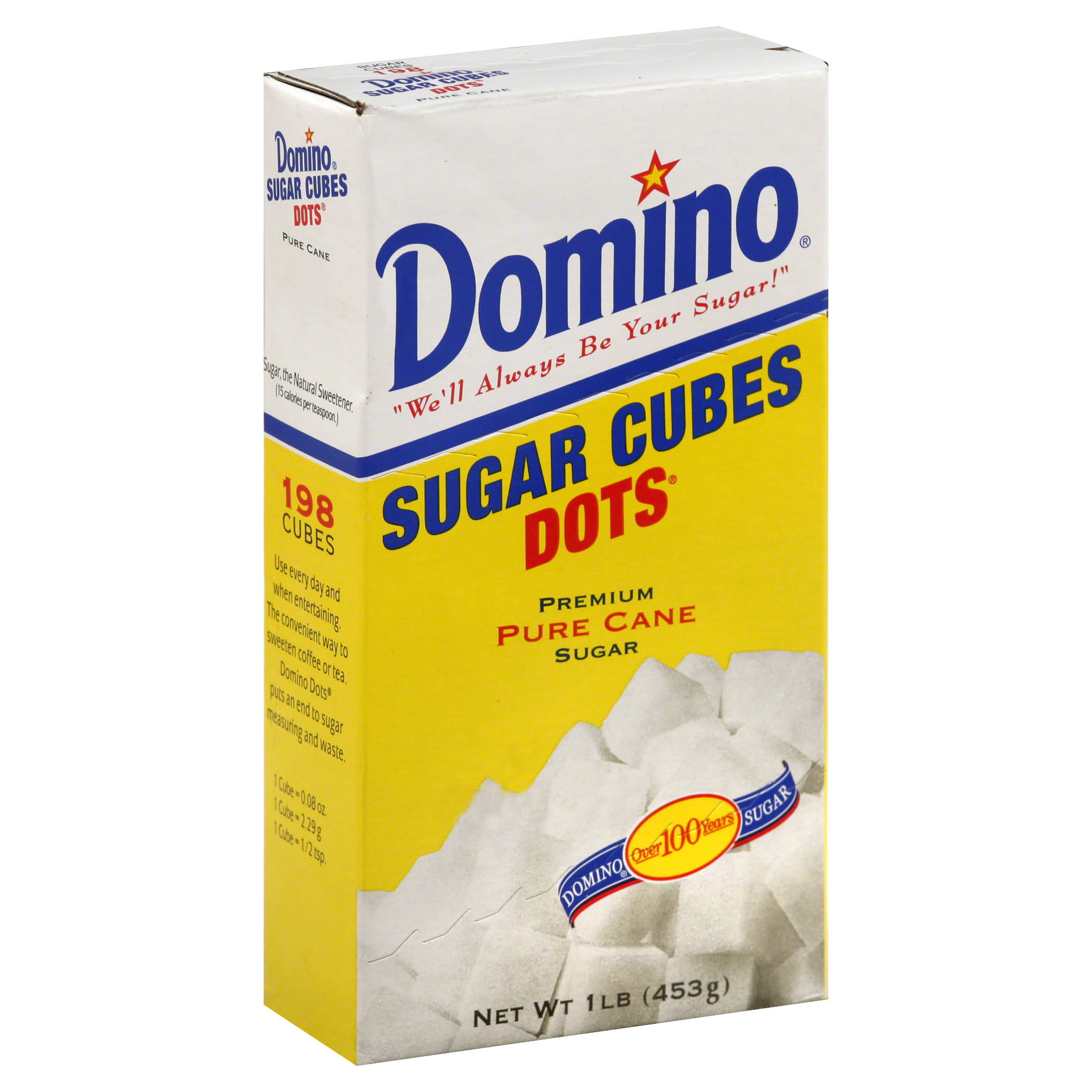 Domino Dots Sugar Cubes - Pure Cane, 126 Cubes