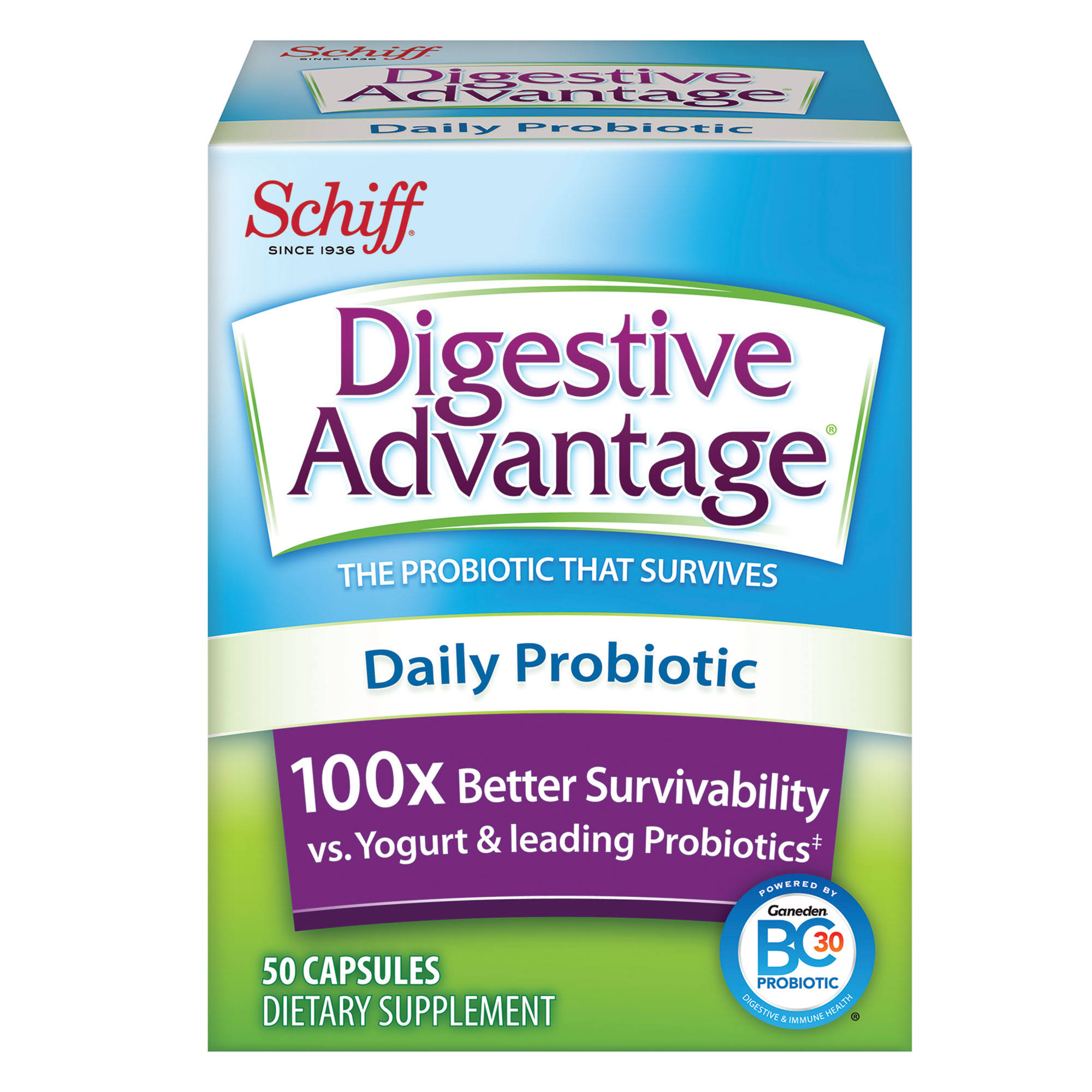 Schiff Digestive Advantage Daily Probiotic Supplement - 50ct
