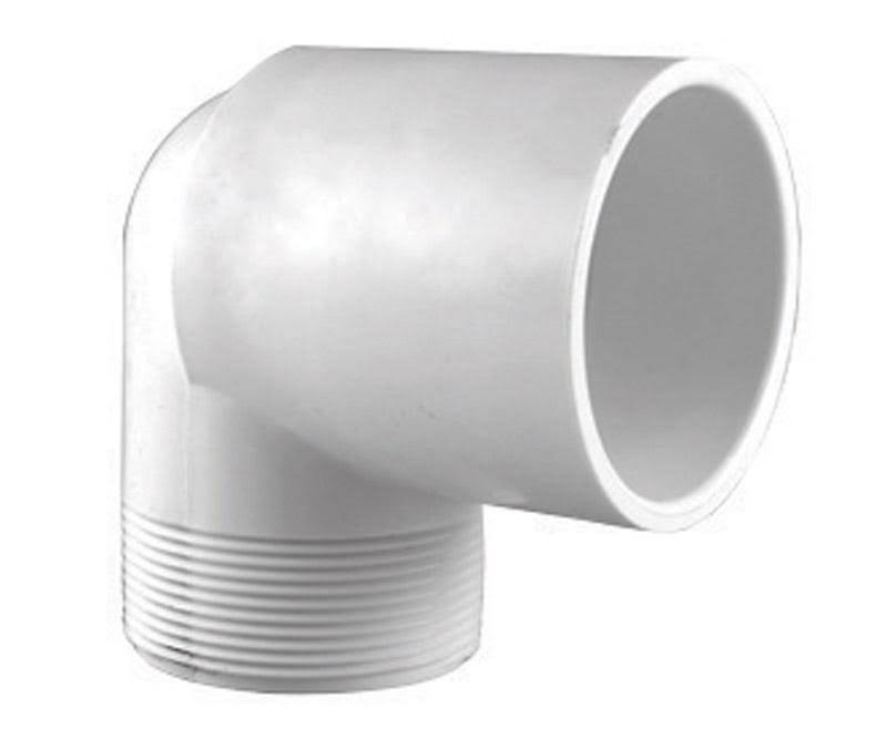 "Charlotte Pipe PVC Street Elbow - 90 Degree, 1/2"", White"