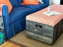 make a herringbone wood toy box storage ottoman hgtv