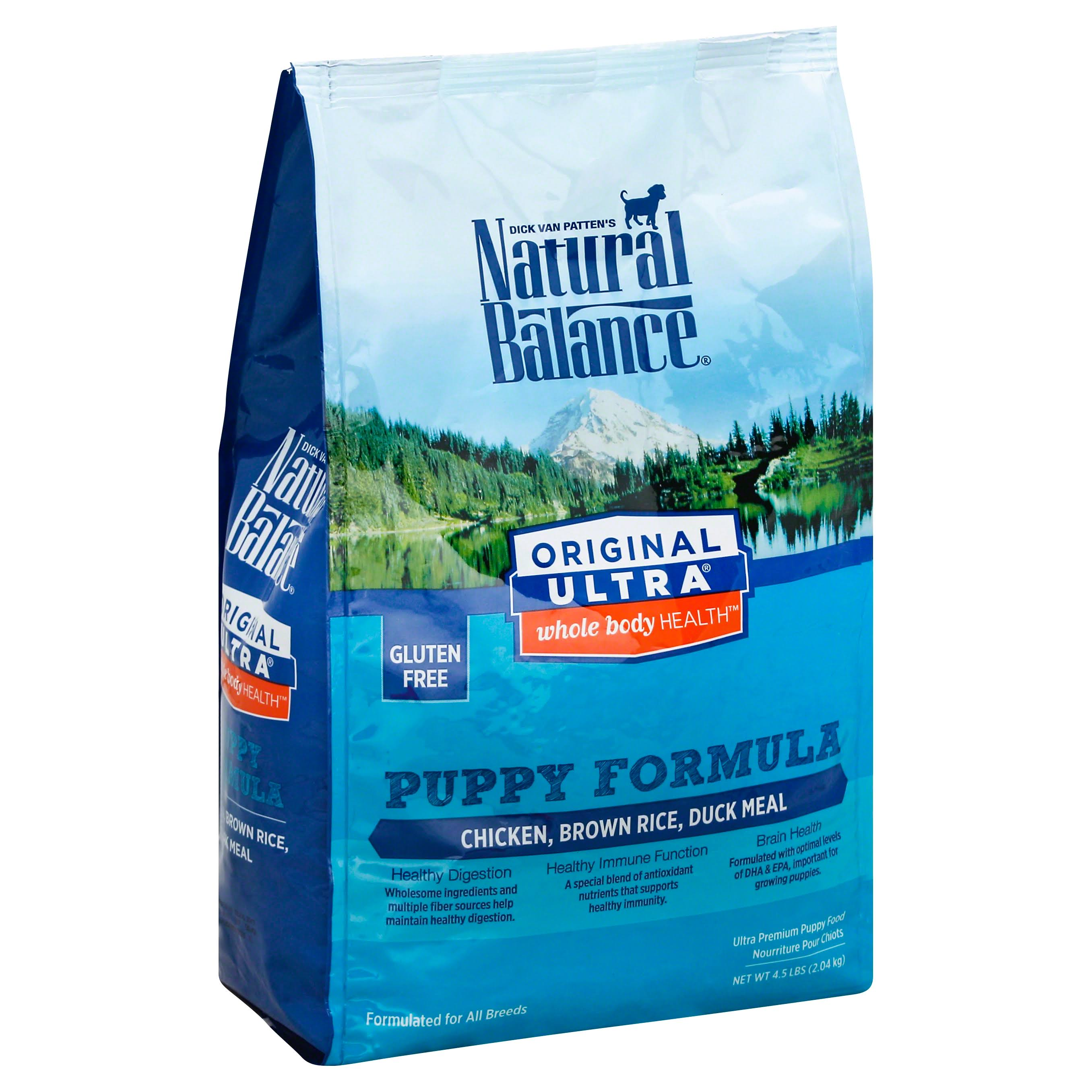 Natural Balance Ultra Puppy Dry Dog Food - Chicken, Brown Rice, Duck, 4.5lb