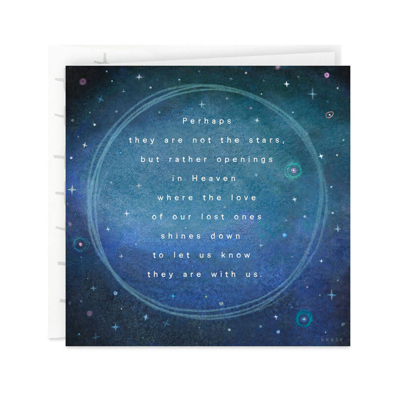 Stars Are The openings in Heaven Sympathy Card
