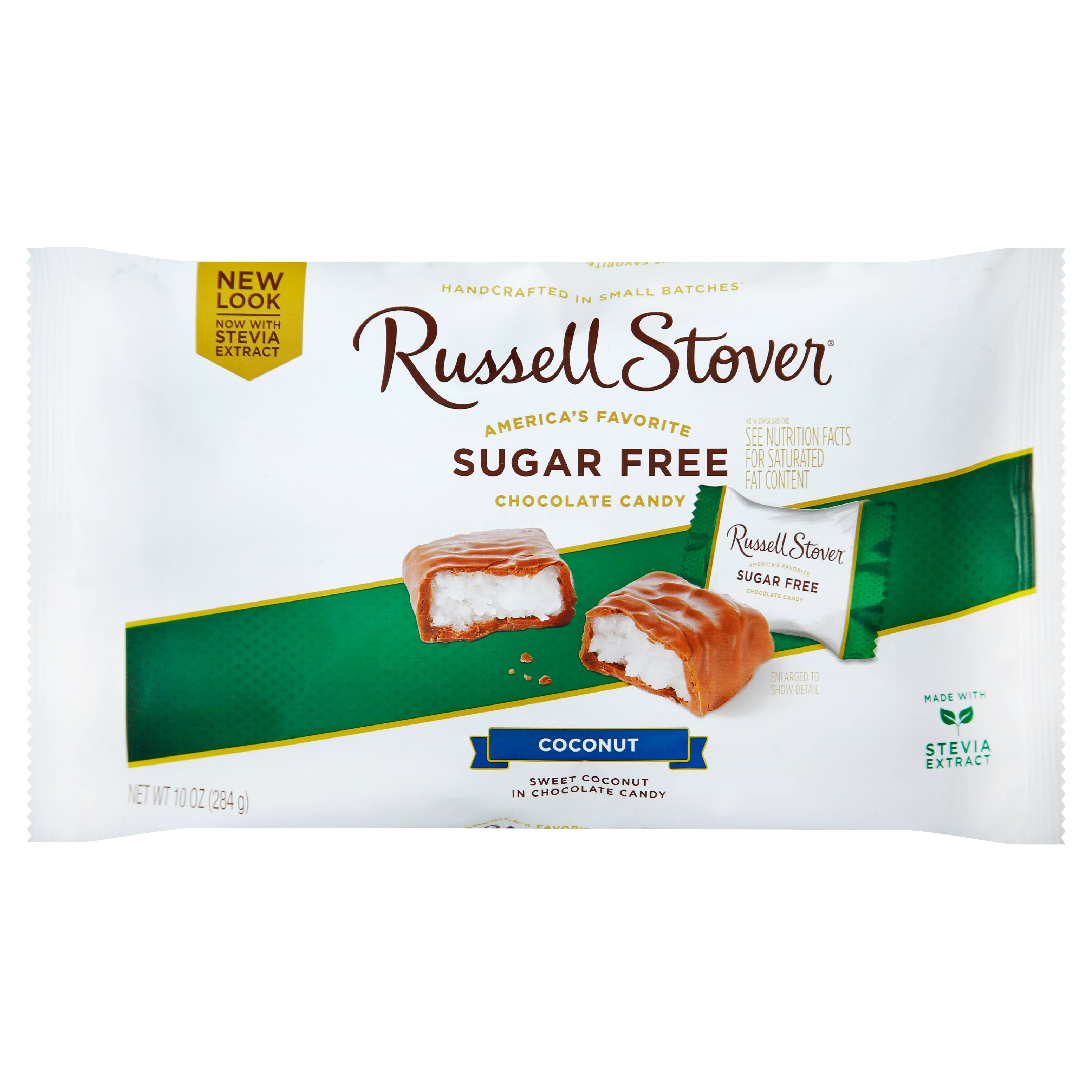 Russell Stover Sugar Free Laydown Bag Candy - Coconut, 10oz