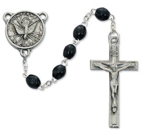 Black Wood Holy Spirit Rosary