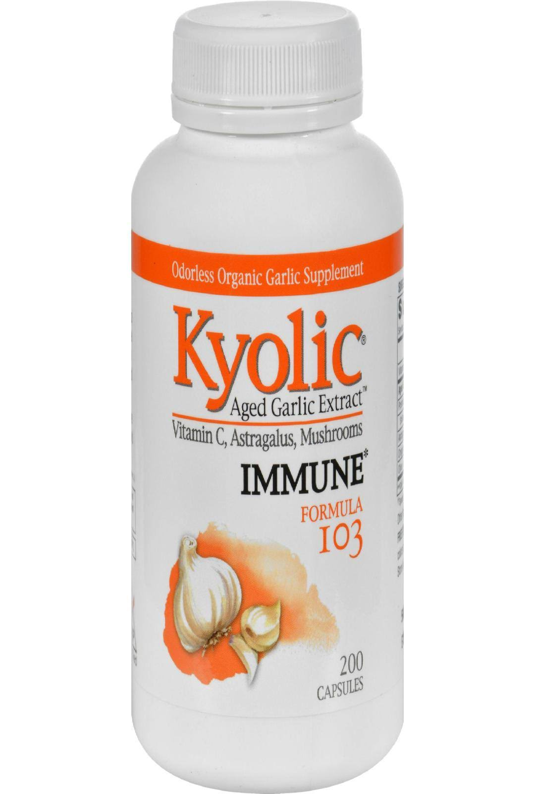 Kyolic Aged Garlic Extract Immune Formula Supplement - 200 Capsules