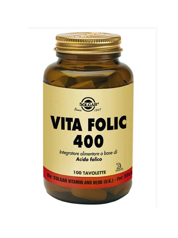 Solgar Folic Acid 400 MCG Dietary Supplement - 250 Tablets