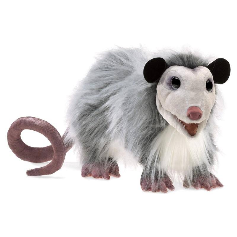 Folkmanis Opossum Hand Puppet Soft Doll Plush Toy