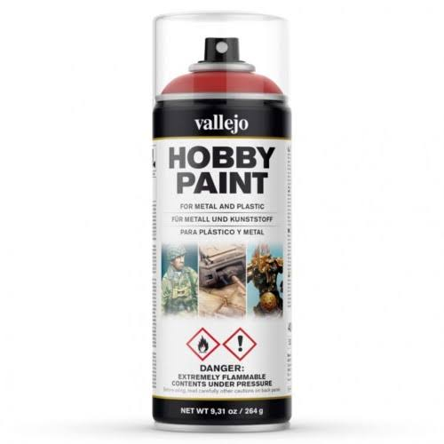 Vallejo Hobby Spray Paint - Scarlet Red, 400ml