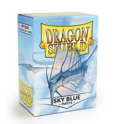 Dragon Shield Standard Size Card Sleeves - Matte Sky Blue, x100