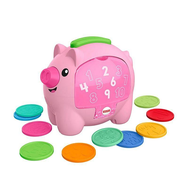 Fisher-Price Asst Laugh & Learn Count & Rumble Piggy Bank
