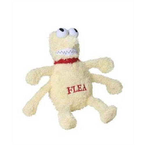 Multipet Mu27431 Plush Flea Dog Toy - Medium, 6""