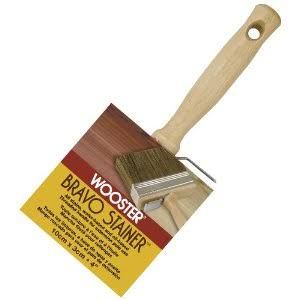 Wooster F5119-4 Bravo Stainer Polyester Bristle Stain Brush - 4""