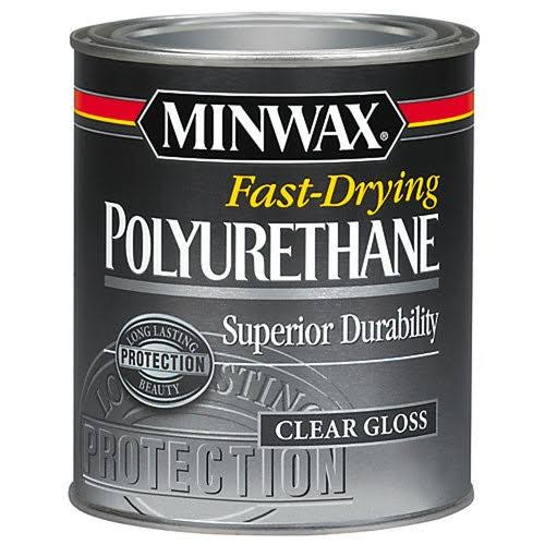 Minwax 23000 Fast Drying Polyurethane - Clear Gloss, 1/2 pt