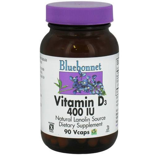Bluebonnet Vitamin D3, 400 IU, Vcaps - 90 count