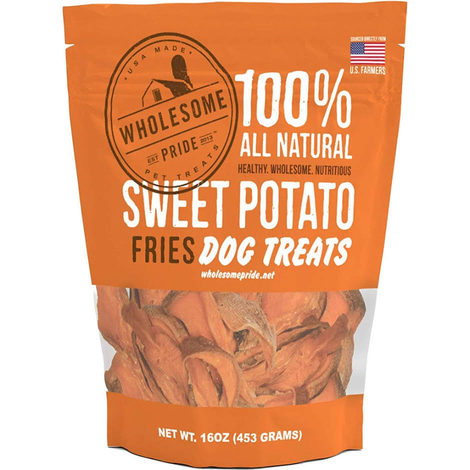 Wholesome Pride Natural Sweet Potato Fries Dog Treats - 8 Oz