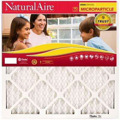 "Flanders PrecisionAire NaturalAire Micro Particle Pleated Furnace Filter - 16"" x 25"" x 1"""