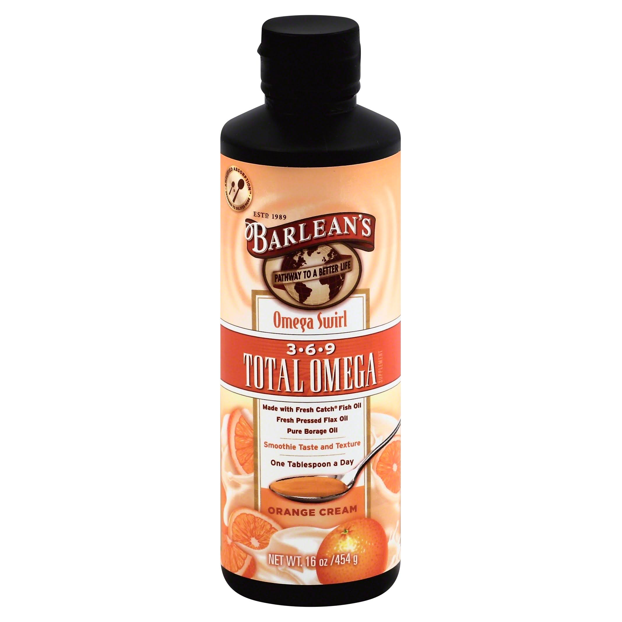 Barlean's Orange Cream Total Omega Swirl - 16 Oz