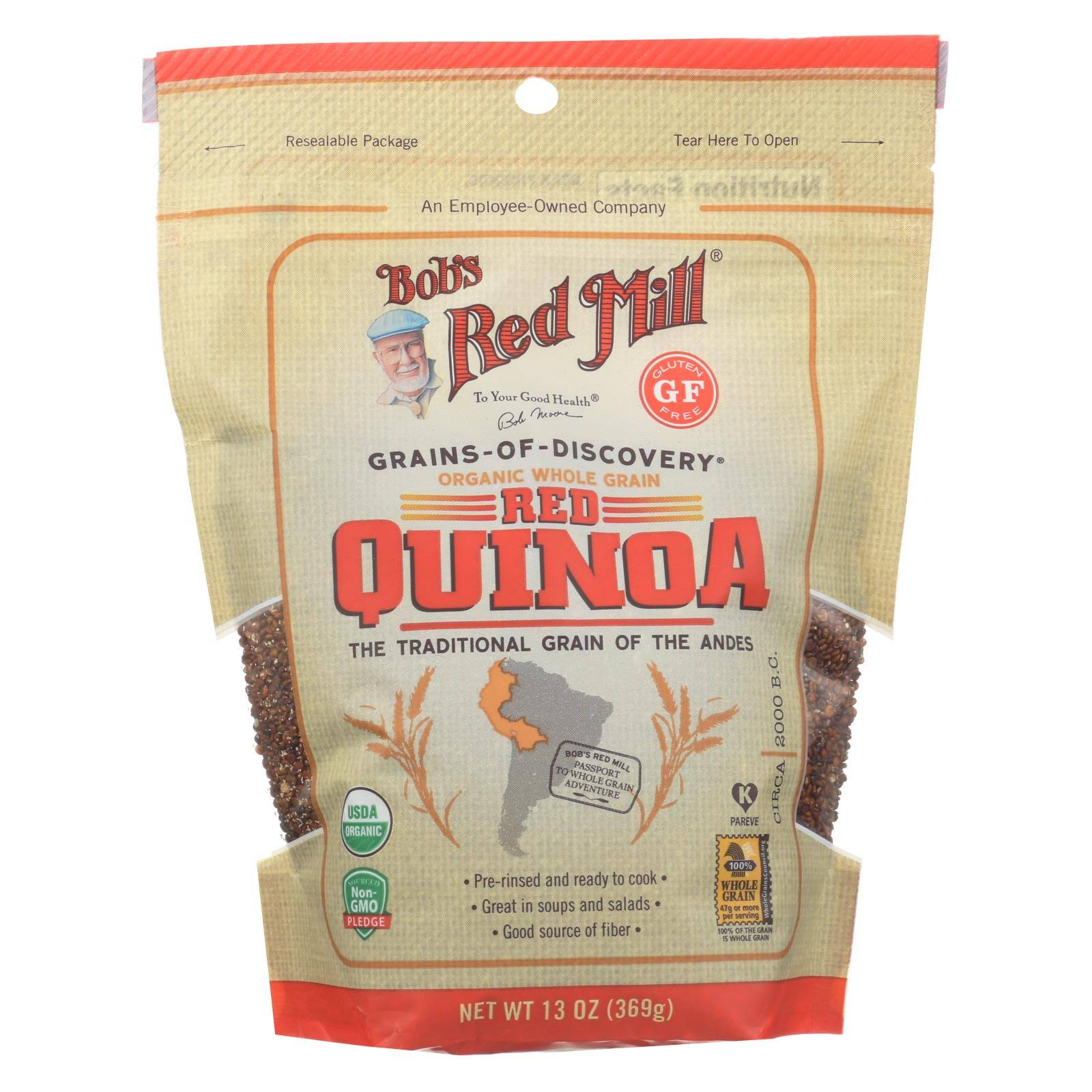 Bobs Red Mill Quinoa, Red, Organic, Whole Grain - 13 oz