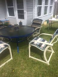 Replace Patio Sling Chair Fabric by Patio Chair Re Build 5 Steps With Pictures