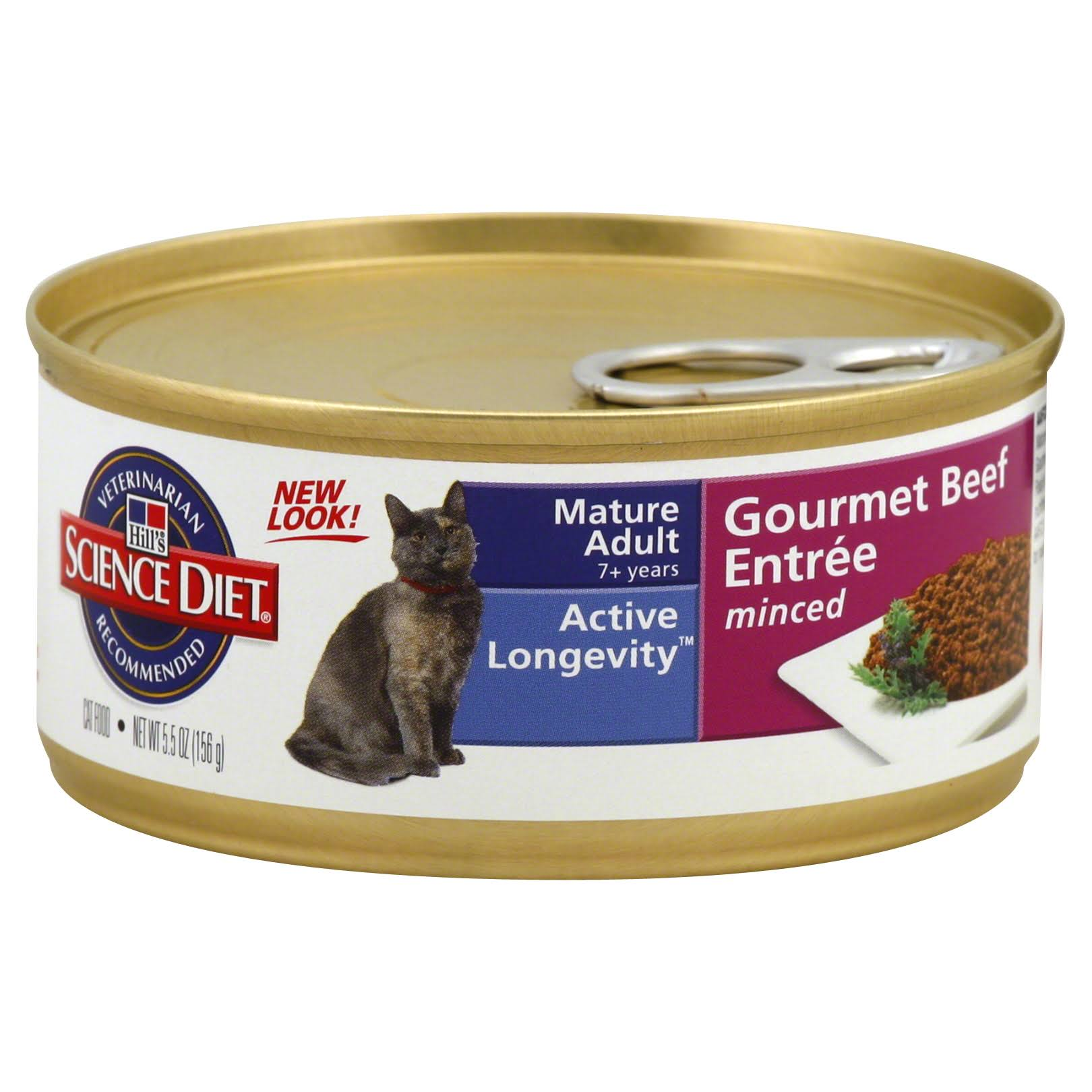 Hill's Science Diet Adult 7 Savory Beef Entrée Canned Cat Food - 5.5oz