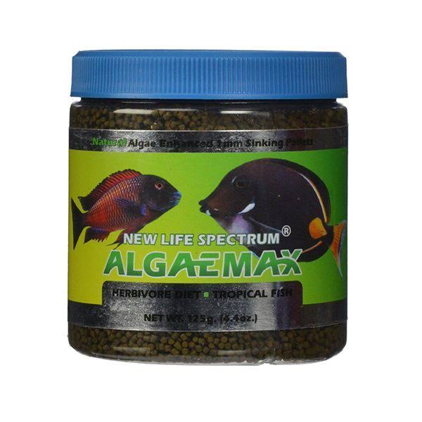 New Life Spectrum ALGAEMAX Formula Fish Food 1mm 125g Sinking Pellet Tank Marine
