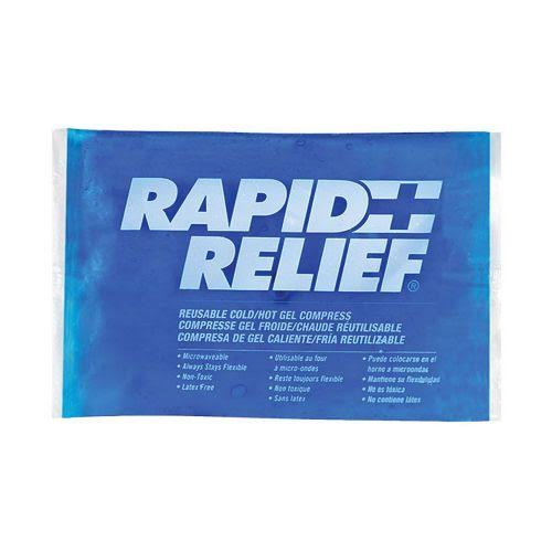 "Rapid Relief Reusable Hot/Cold Gel Compress c/w Contour Gel 4""x 6"""