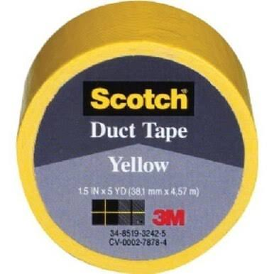 3M Scotch Yellow Duct Tape - 1.5in x 5yd