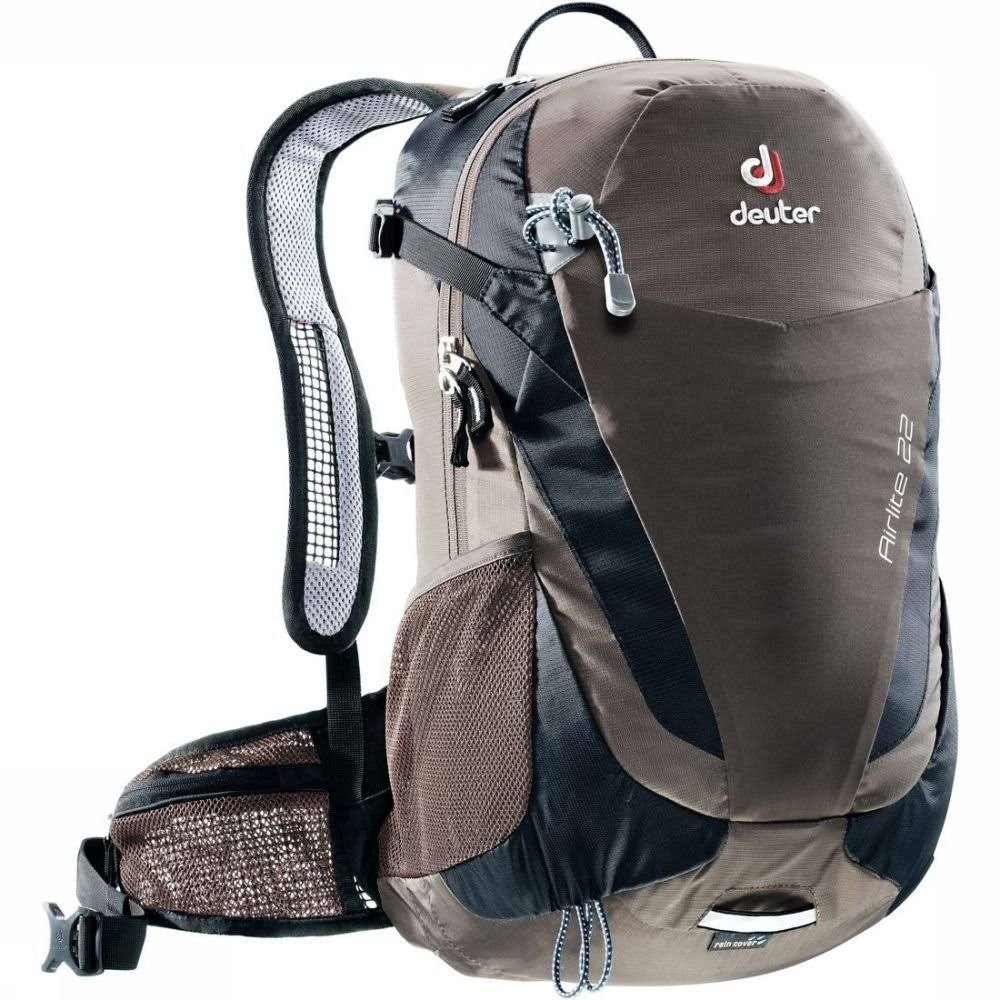Deuter Airlite Hiking Rucksack Backpack Bag - Stone and Black, 22L