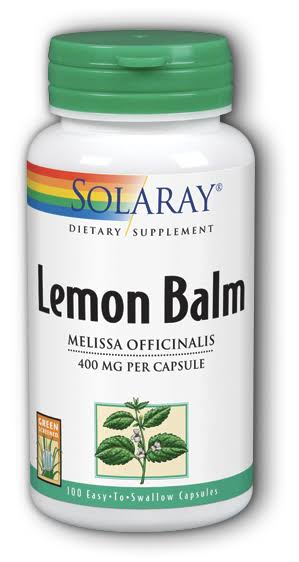 Solaray Lemon Balm - 395mg, x100