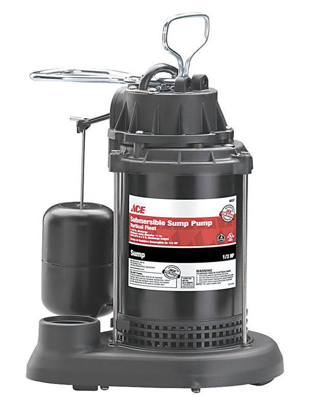 Ace Submersible Sump Pump - 1/3 HP
