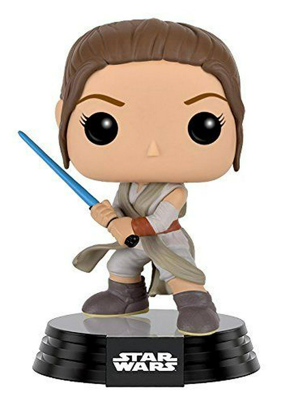 Funko POP! Star Wars: Episode VII: The Force Awakens Vinyl Bobble-Head Figure - Rey with Lightsaber