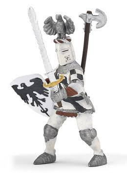 Papo Toy Figure - White Crested Knight