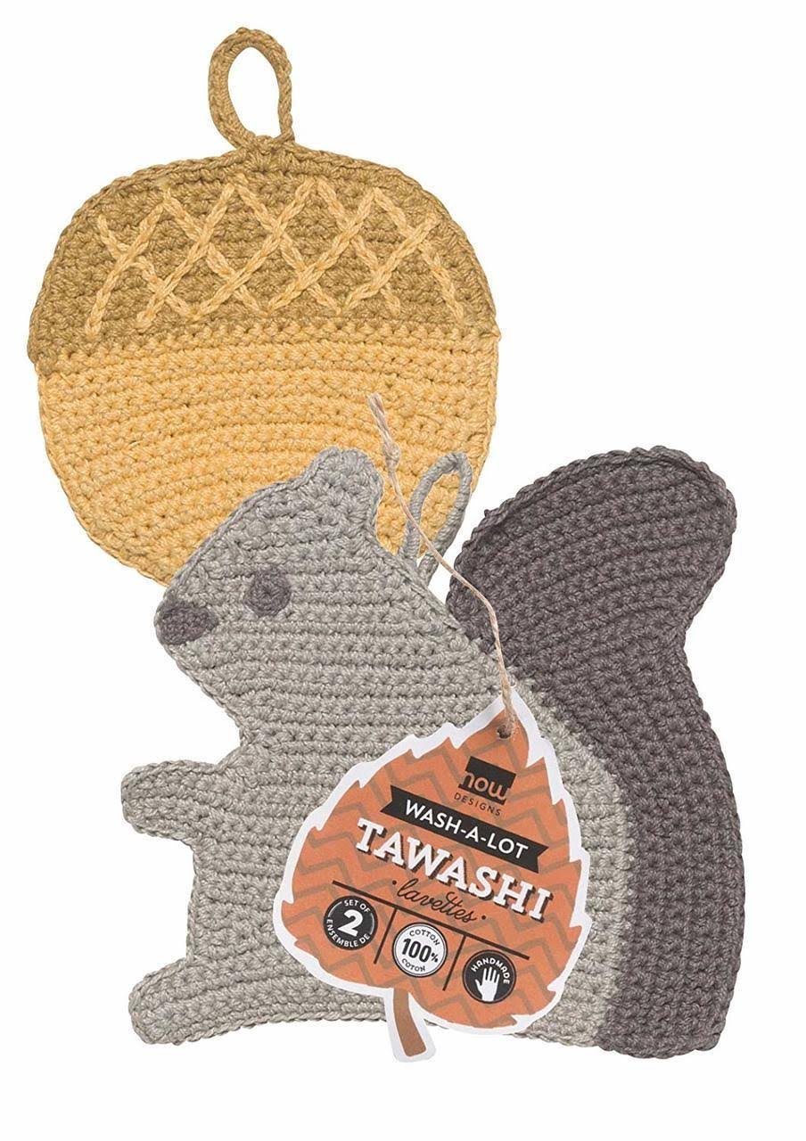 Now Designs 2012011 Tawashi Dish Scrubbers, Set of Two, Susie, 2 Piece