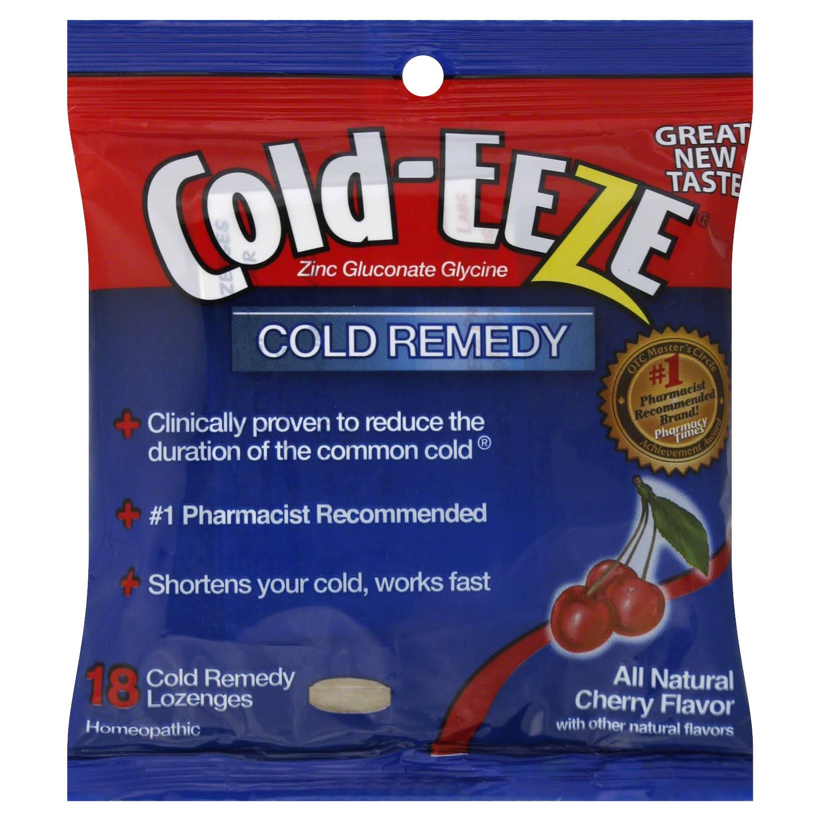 Cold-Eeze Cold Remedy - 18 Cold Remedy Lozenges, Cherry