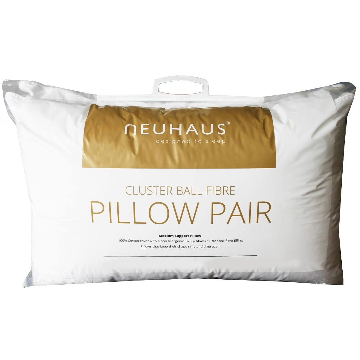 Neuhaus Clusterball Fibre Pillow Pair White