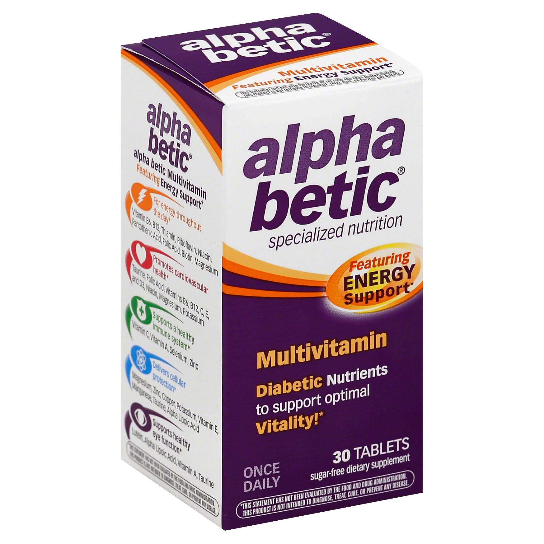 Alpha Betic Multi-Vitamin Supplement - 30 Tablets