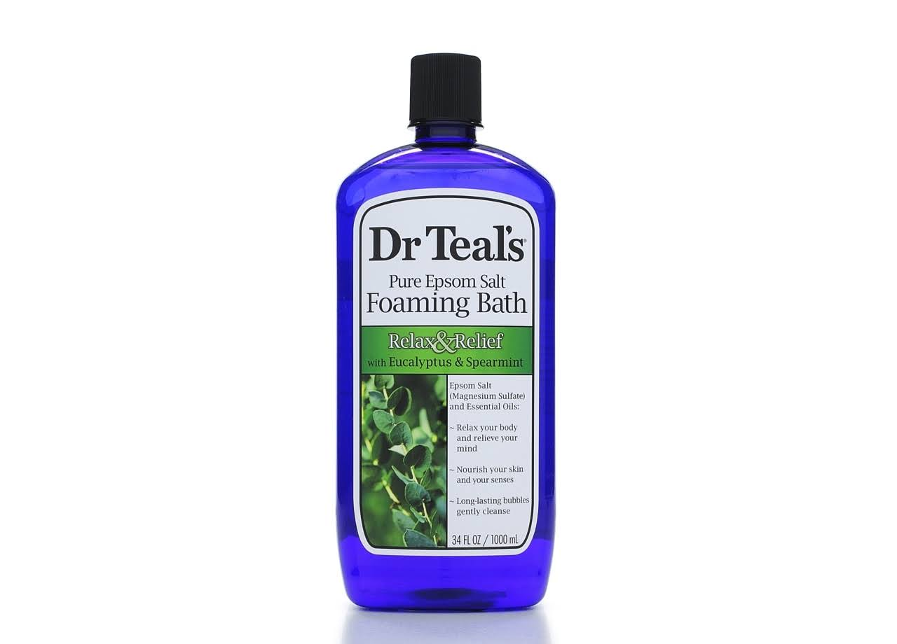 Dr. Teal's Relax and Relief Foaming Bath - With Eucalyptus and Spearmint, 34oz