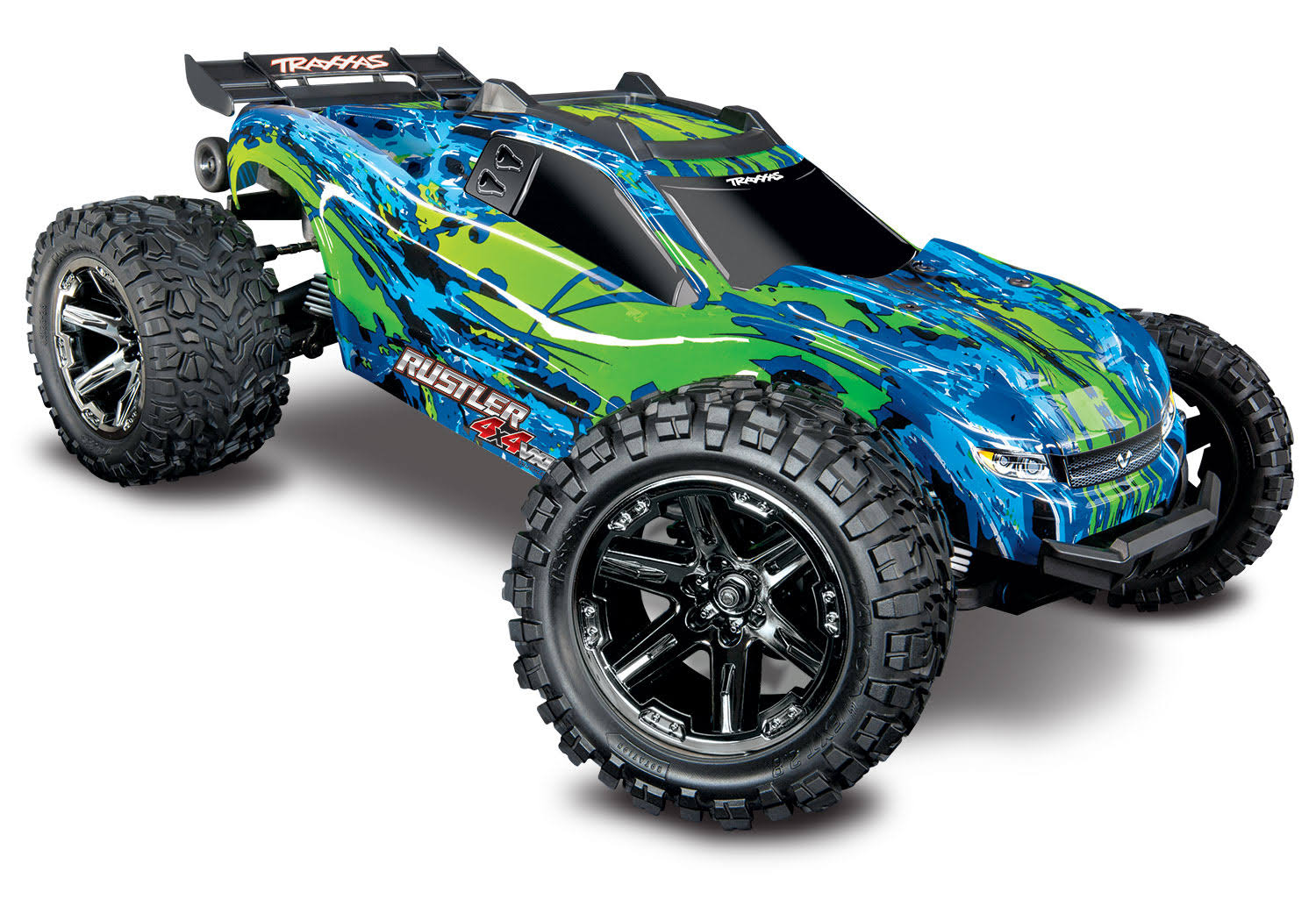 Traxxas Rustler 4x4 VXL Electric RTR Stadium Truck RC Model Kit - 1:10 Scale