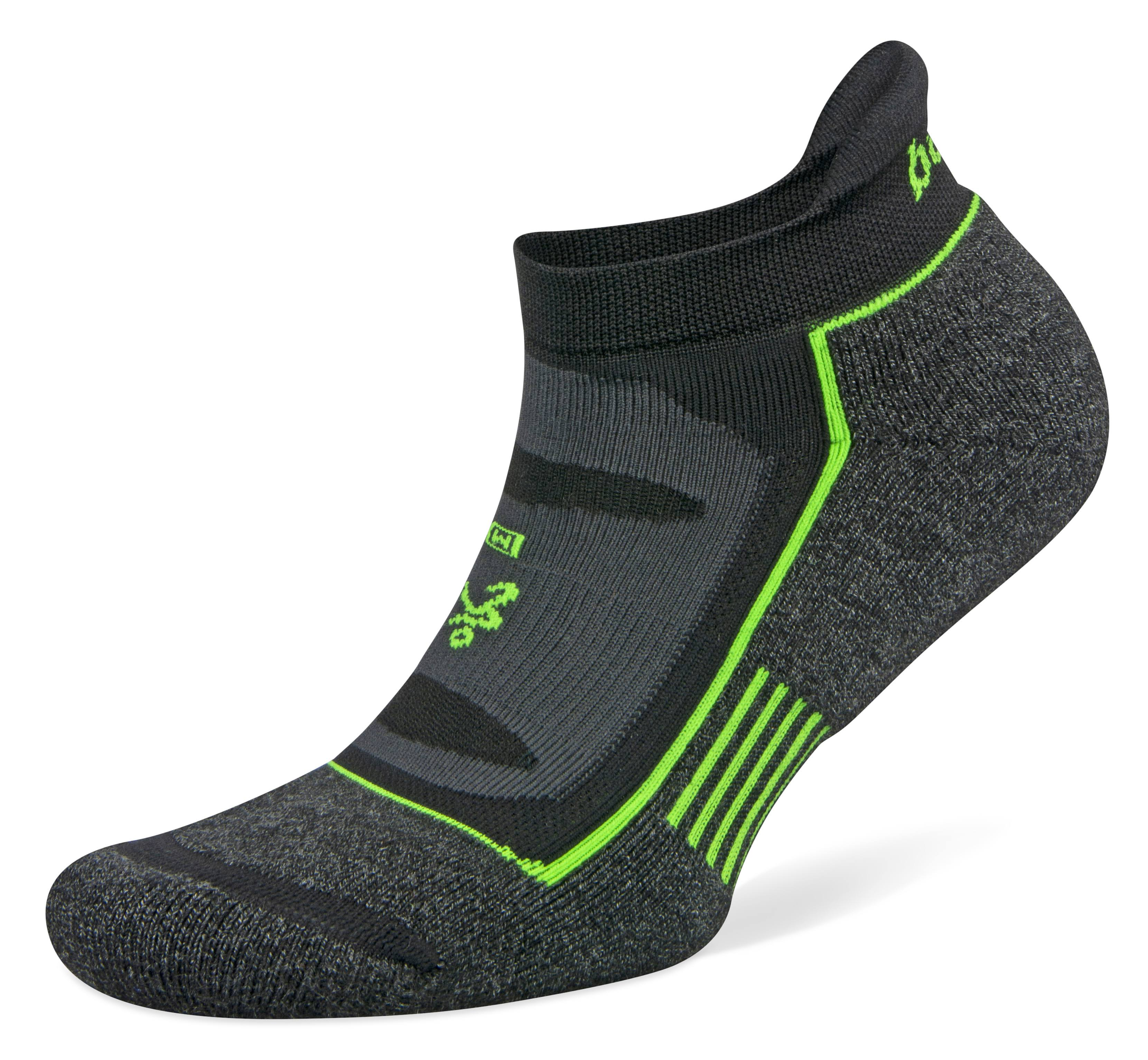 Balega Blister Resist No Show Socks - Charcoal/Black, Small