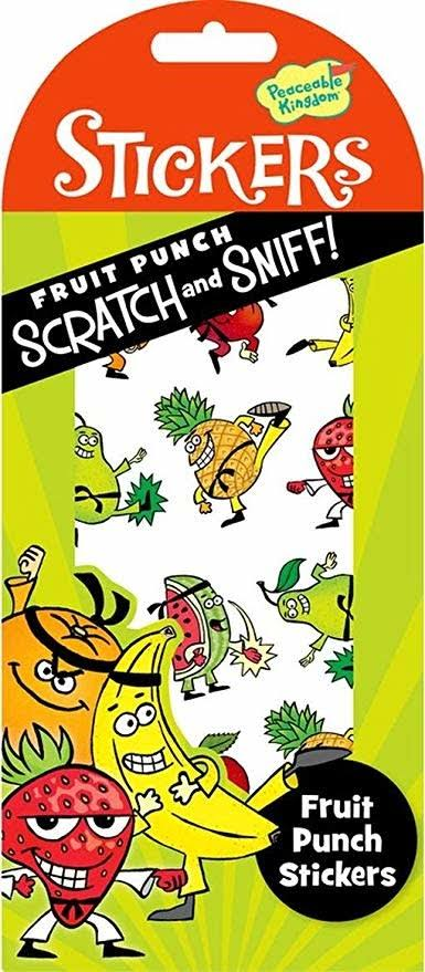Scratch and Sniff Stickers - Fruit Punch Scent