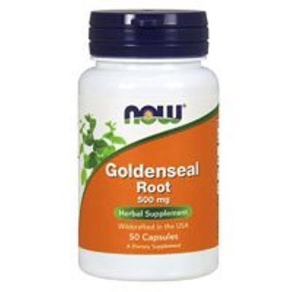 Now Foods Goldenseal Root - 500mg, 50 Capsules