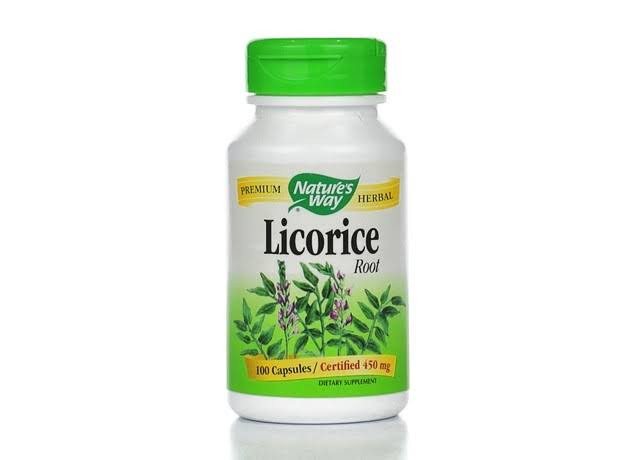 Nature's Way Licorice Root Dietary Supplement - 100 Capsules