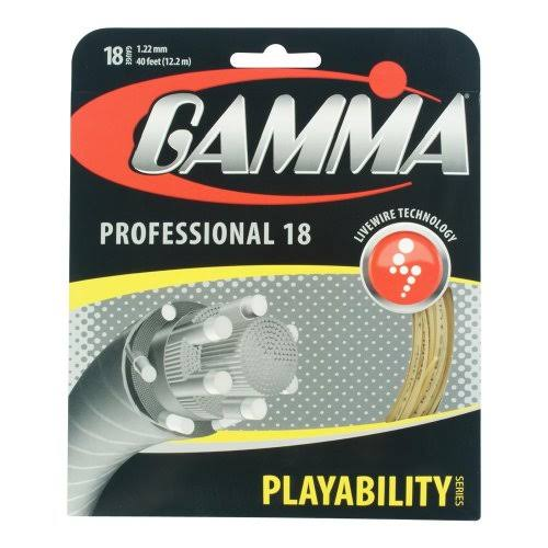 Gamma Live Wire Professional 18 Tennis String - 1.22mm x 12.2m