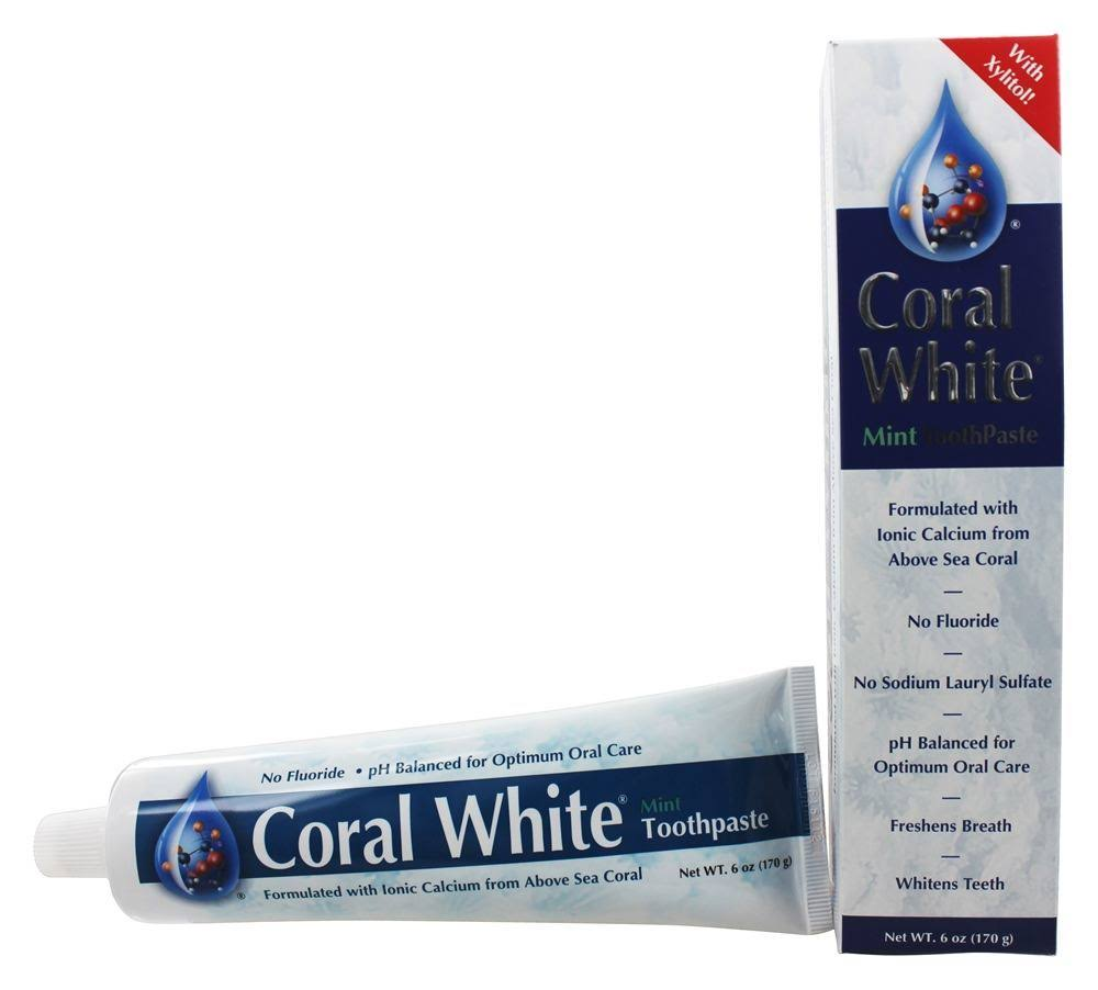 Coral White Toothpaste, Mint, 6 oz