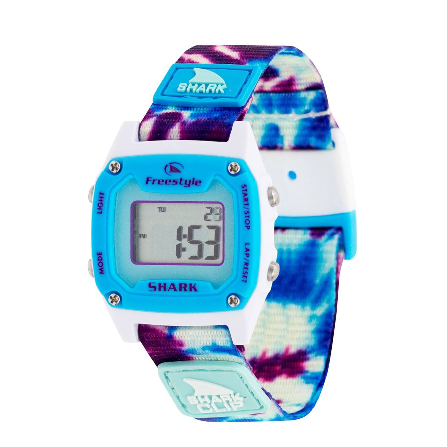 Freestyle Shark Mini Clip Watch - Tie Dye Blue