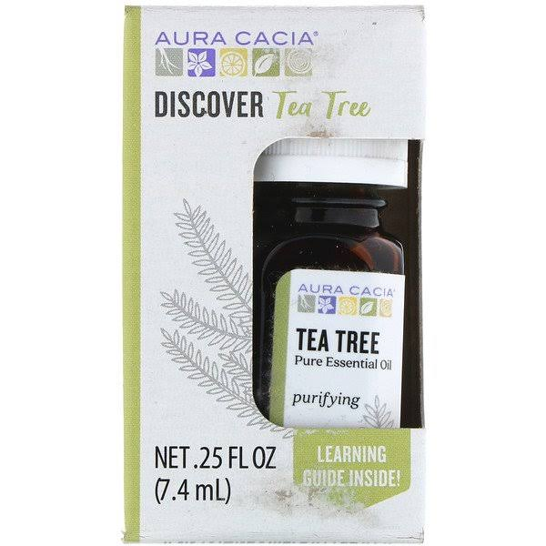 Aura Cacia Discover Tea Tree Pure Essential Oil - 0.25oz
