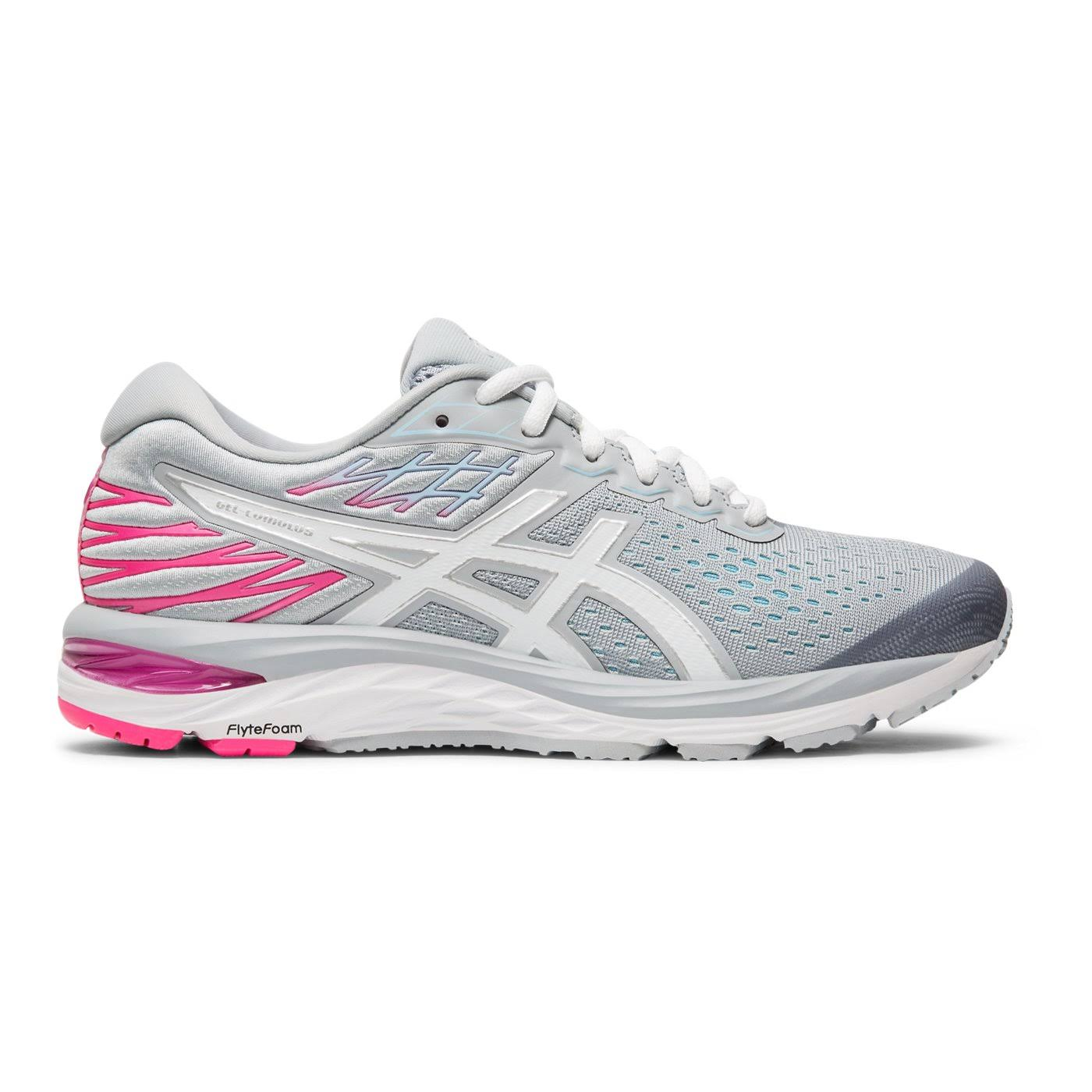 Asics Women's Gel Cumulus 21 Running Shoe - Piedmont Grey/White, 10