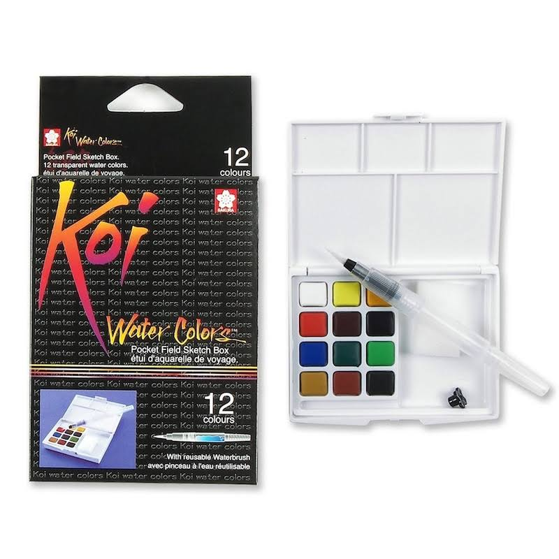 Sakura Koi Watercolour Paint Set Travel Pocket Size